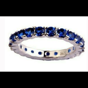 Jewelry - Royal Blue and Sterling Silver Eternity Band🆕